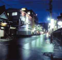 湯田川温泉の温泉街