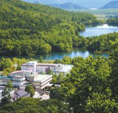 奥日光湯元温泉の全景