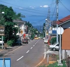 関温泉の温泉街