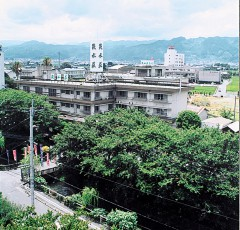 新緑の吉井温泉街