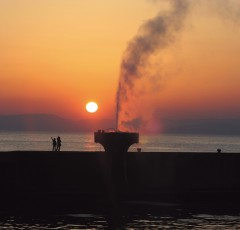 橘湾の夕陽