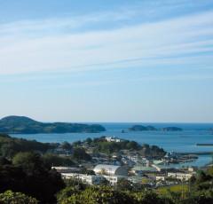 壱岐湯本温泉の全景