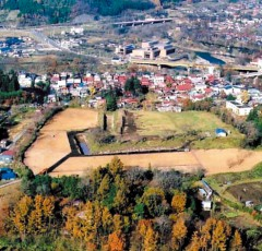 国指定史跡の九戸城跡は東北最古の石垣を残している