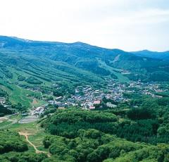 蔵王温泉の全景