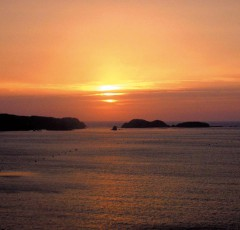 壱岐湯本温泉の夕日
