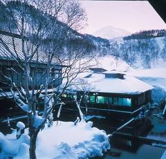 酸ヶ湯温泉の冬景色