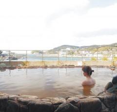 壱岐湯本温泉の露天風呂